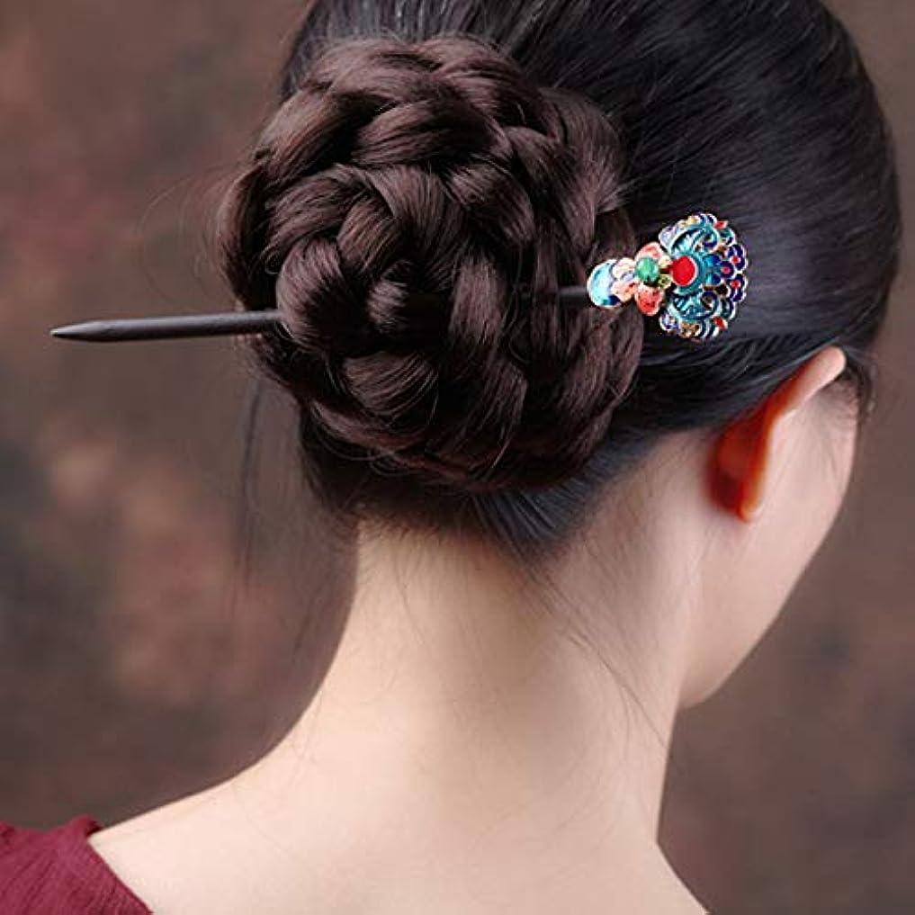 不毛のスキッパー地獄HuaQingPiJu-JP 手作りの花のヘアピン中国スタイルのヘアアクセサリー(多色)