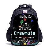 Zaino Among Us, borsa da scuola per la riduzione del carico, immagini personalizzate di supporto dello zaino-12