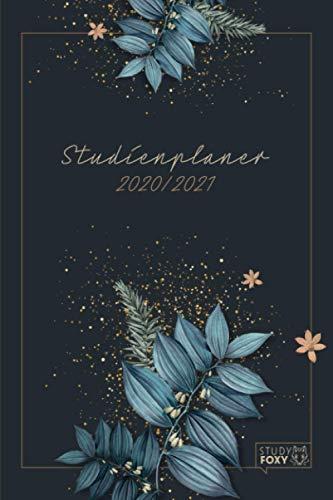 Studienplaner 2020/2021: Motivierender Studentenkalender & Semesterplaner für Aug. 2020 – Sept. 2021 I Schöner Taschenkalender als Geschenk zum Studienbeginn I A5 I Retro Blumen