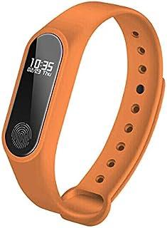 EisEyen - Pulsera inteligente para dormir con frecuencia cardíaca, oxímetro de presión arterial, reloj deportivo, color naranja