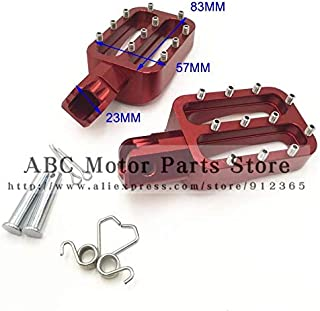 Frames & Fittings Red CNC Foot Pegs Pedals Rests for Lucky MX Thumpstar Explorer Braaap Atomic Pitpro Pitster Pro Pit Dirt Bike - (Color: Silver)