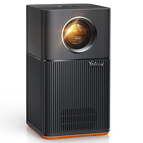 Yefound T1 WiFi Bluetooth Projector, FHD 1080P Projector Support 4K, 150ANSI, Home Movie Projector with Electronic Keystone/Zoom/10W Speaker/200 Display, Wireless Portable Projector for iOS/Android