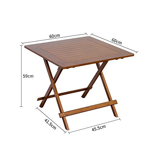 WMMING ソリッドウッド折りたたみテーブル世帯表ポータブルダイニングテーブル屋外竹ストールスクエア折りたたみテーブル 折りたたみ、多機能 (Size :