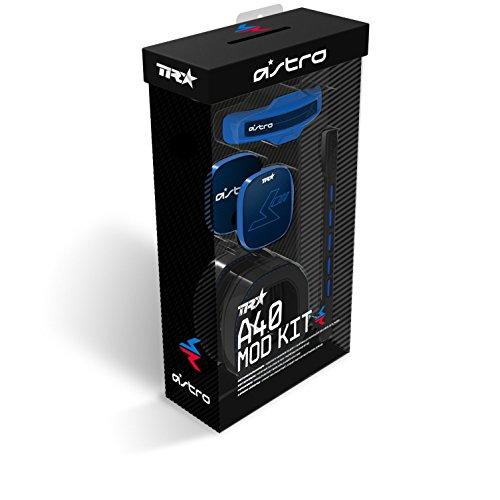 ASTRO A40 TR Gaming-Headset Mod-Kit, 3. Generation, Stimmisolierendes Mikrofon, Ohrpolster mit Geräuschunterdrückung, Gepolsterter Kopfbügel, Lautsprecher-Tags mit Geräuschisolierung - blau