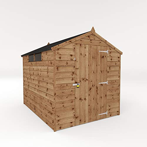 WALTONS EST. 1878 Wooden Garden Shed 8x6 Outdoor Security Storage, Pressure Treated Timber Building 8ftx6ft