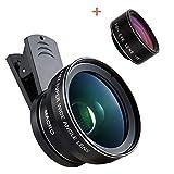 GeToo Phone Camera Lens - 198°Fisheye Lens,0.45X Wide Angle Lens and 12.5X Macro