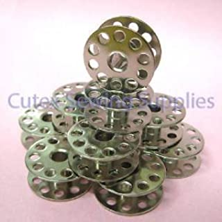 Cutex (TM) Brand 10 Pk. Metal Bobbins For Tacsew T111-155, GC6-6 Industrial Sewing Machines