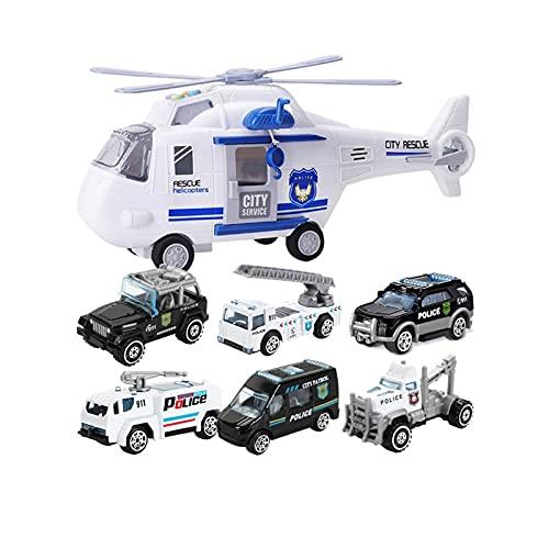 YLJYJ Avión de Gran tamaño para niños Juguete para niño Coche de policía Tire hacia atrás Modelo de Coche de aleación Helicóptero para bebés Más de 3 años Niños ho (Coche RC)