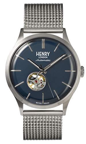Henry London Herren Analog Quarz Uhr mit Edelstahl Armband 5018479085942