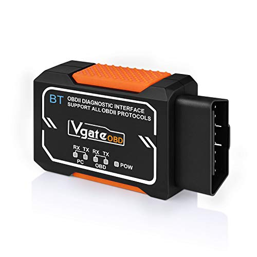 Vgate OBD2 Bluetooth Scanner, OBDII Diagnostic Scan Tool, Check Engine Light Code Reader, OBD2 Bluetooth Adapter for Android & Windows Only