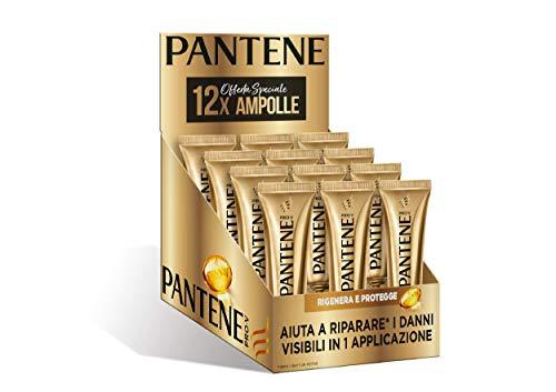 Pantene Pro-V 12 Sos Shots Rigenera e Protegge, Trattamento Intensivo in Ampolle, Maschera Capelli Danneggiati, 12 x 15 ml
