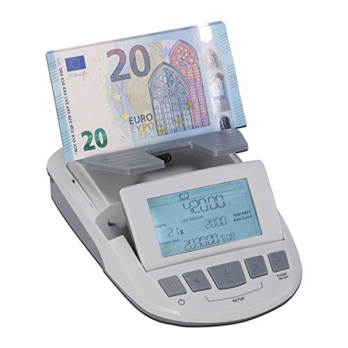 ratiotec Zahlungsbilanz ratio-tec RS 1200–zählt Münzen/Banknoten und Münzen–für Euro/GBP/CHF–Fu Rollen
