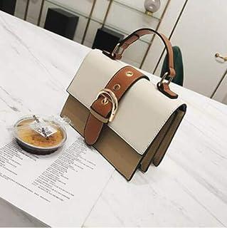 Adebie - Women's Designer Handbag 2019 Fashion New High Quality PU Leather Women Bag Contrast Lady Tote Shoulder Messenger Bag Crossbody 20 X 9 X 15 cm Beige []