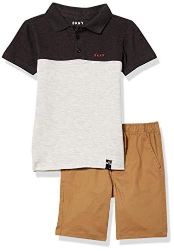 DKNY Boys' Shorts Set, Park AVE Khaki, 4
