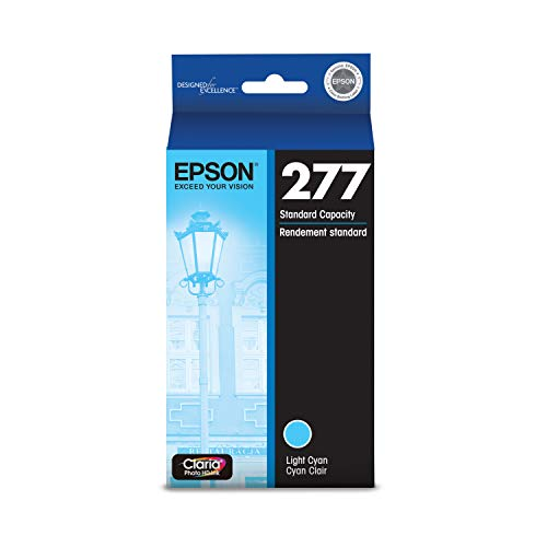 EPSON T277 Claria Photo HD Ink Standard Capacity Light Cyan Cartridge (T277520) for Select Epson Expression Printers