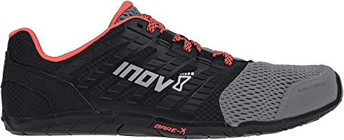 Inov-8 Women's Bare-XF 210 v2 (W) Cross Trainer, Grey/Black/Coral, 6.5 B US