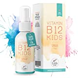 Little Wow® - Daily Vegan Vitamin B12 Spray | Speziell für Kinder I Vegane | Für 195 Tage | B 12 | B12 Vitamin für Kinder | Multivitamin | Vitamine Kinder | 10 µg Tagesbedarf pro Sprühstoß