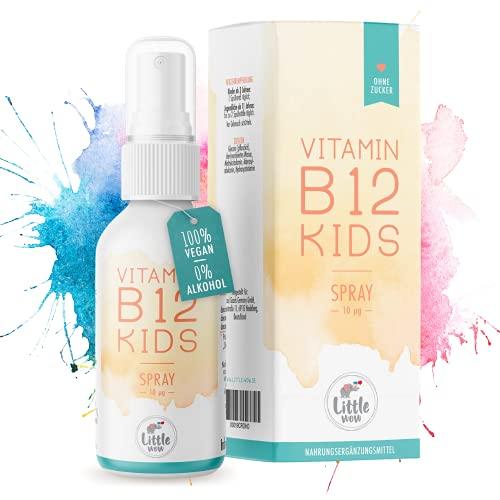 Little Wow® - Daily Vegan Vitamin B12 Spray   Speziell für Kinder I Vegane   Für 195 Tage   B 12   B12 Vitamin für Kinder   Multivitamin   Vitamine Kinder   10 µg Tagesbedarf pro Sprühstoß