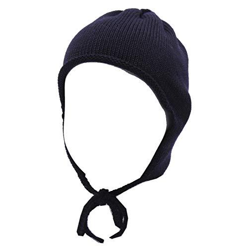 Catya 3893Y cuffia bimba girl newborn wool blue berretto hat [V (12 MONTHS)]