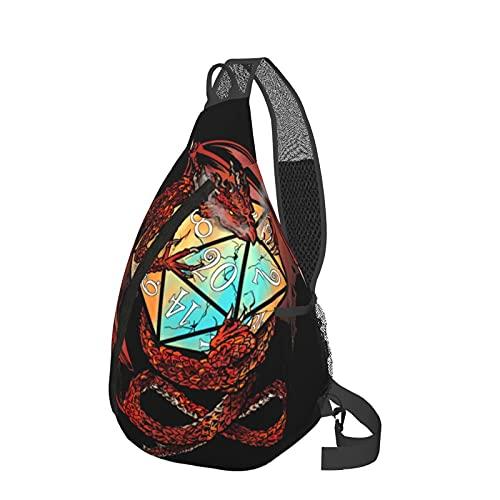 Mochila de viaje senderismo Daypack 3D gráfico impreso Crossbody bolso de hombro, color Naranja, talla Talla única