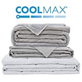 Degrees of Comfort Zoning Weighted Blanket Adults 2 Duvet Covers for Hot & Cold Sleeper Advance Nano-Ceramic Beads Deliver Durability & Silky Comfort (60x80 18lbs Grey)