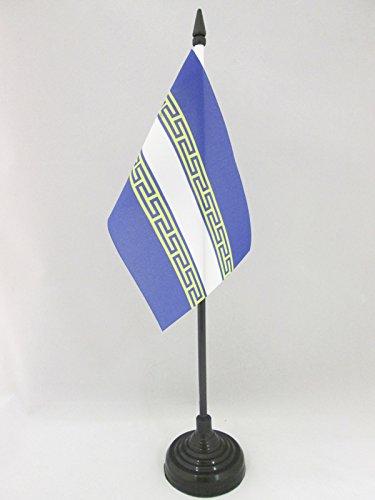 AZ FLAG TISCHFLAGGE DÉPARTEMENT Marne 15x10cm - Marne TISCHFAHNE 10 x 15 cm - flaggen