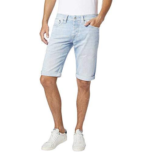 Pepe Jeans Cash Short Jeans, Azul (Light Used Denim Me3), W28 para Hombre
