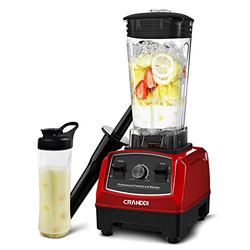 CRANDDI Countertop Blender with 1500W Base Professional HighSpeed Smoothie Blender with 70oz Pitcher for Family Size Frozen Drinks and Smoothies Builtin Pulse amp 9speeds Control Easy SelfCleaning YL010R