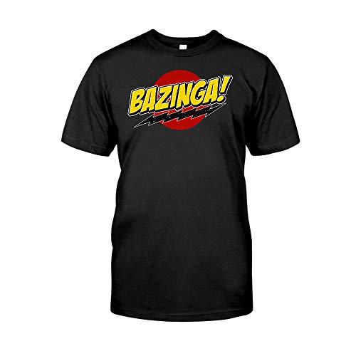Situen Bazinga Popular TV Show 2 T-Shirt – Die lustigen Kaffeebecher für Halloween, Urlaub, Weihnachten, Party-Dekoration, 313-425 ml, Weiß/Schwarz Cettire