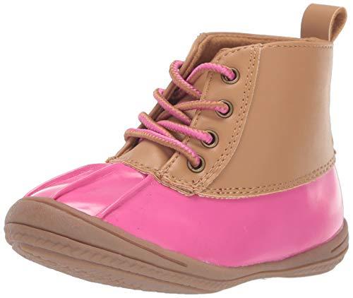 Carter's Every Step Girl's Infant 1st Walker Evvie Fringe Fashion Boot Ankle, Light Brown, 4 Toddler