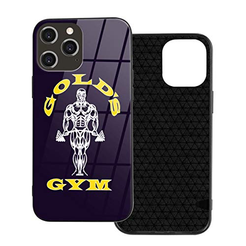 Golds Gym - Carcasa para iPhone 12/12 Pro, cristal orgánico a prueba de golpes y arañazos para 6.1 pulgadas