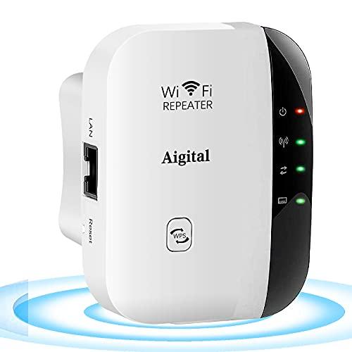 Repetidor de Red WiFi Mini Portátil (Repetidores WiFi Extensor 2.4GHz, 300 Mbps, Puerto Ethernet 10/100Mbps, Modo Ap y Extensor, Antenas Internas,Compatibilidad Universal, Diseño Moderno y Funcional