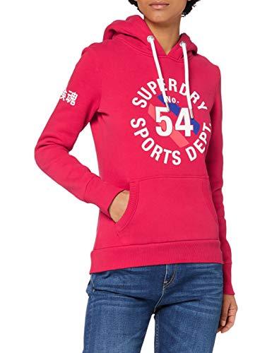 Superdry Vintage Sport Hood Sudadera con Capucha, Carmine Red, 14 para Mujer