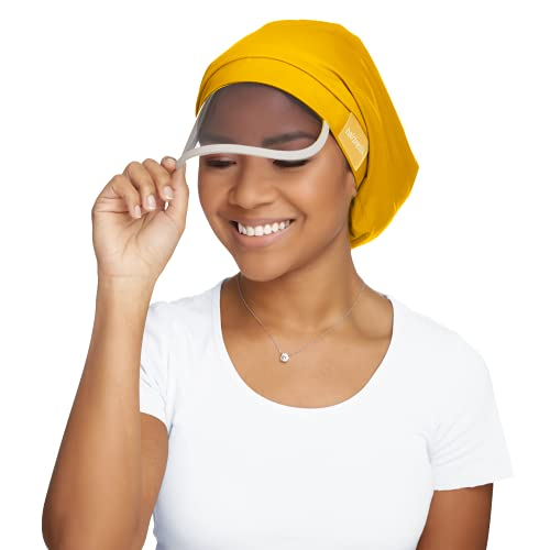 Hairbrella Women's Rain Hat, Waterproof, Sun Protection, Satin-Lined, Packable (Sunbeam)
