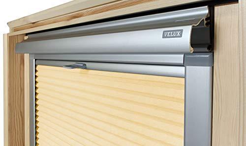 Home-Vision® Dachfenster Premium Plissee Faltrollo ohne Bohren Velux-kompatibel (Gelb für SK08 - Silber) Blickdicht Sonnenschutz, Alle Montage-Teile inklusive