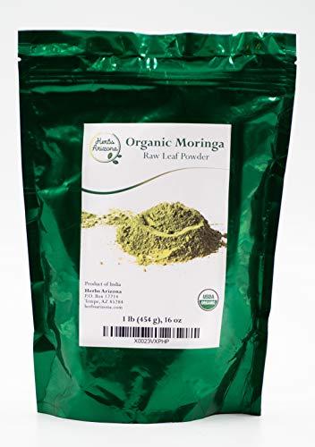Premium Quality Moringa Leaf Powder 1 lb (16 OZ), USDA Organic, Gluten Free, Nutrient Rich for Improved Health