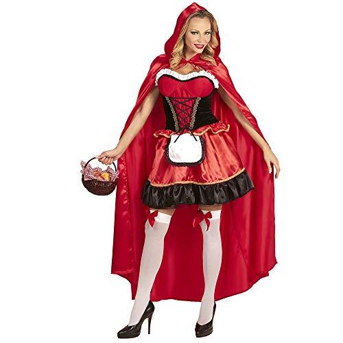 Widmann 74552 kostuum roodkapje, dames, rood, M