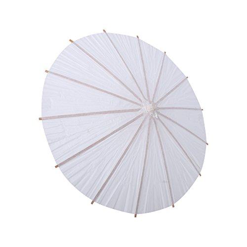Paraguas de Papel Blanco, Chino/japonés Paraguas Decorativo Boda Nupcial Decoración del Partido Foto Prop Art Display DIY artesanía Pintada a Mano(半径30cm)