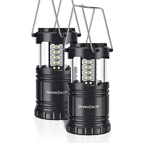 Sahara Sailor  Lanterna LED Campeggio - Lampada Da Campeggi Portatile, Resistente All'Acqua, Super Luminosa Con 30 LEDS, Illuminazione Da Esterno, Per Emergenze, Campeggio, Viaggio,Trekking
