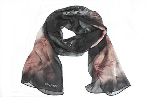 Valentino Damen Schal Scarf im Geschenkbox Made in Italy 7885s rose-schwarz