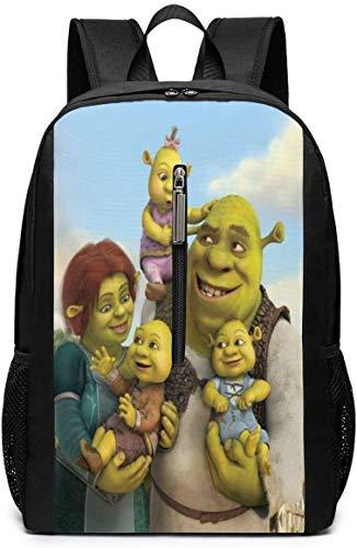 BAGGNICE Rucksäcke Daypacks Taschen, Shrek Cartoon 17 Inch School Bag Backpack College Bag Laptop Backpack Large Capacity Backpack (Black)