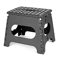 ACKO 踏み台 折り畳みステップ コンパクトスツール ホワイト 脚立 クラフタースツール 子供用大人用 (ブラック)