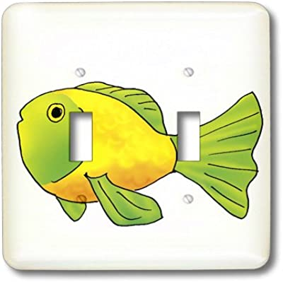 3dRose lsp/_196084/_2 Funny Sharks Love Double Toggle Switch
