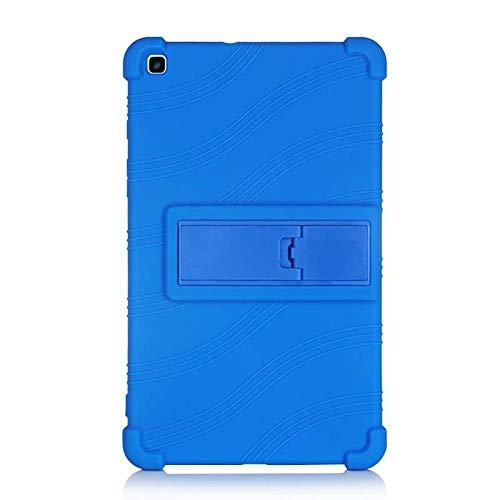 Funda de silicona para Samsung Galaxy Tab de 8.0 pulgadas 2019 Tablet SM-T290 T295 T297 niños a prueba de golpes Kickstand funda protectora Case azul oscuro.