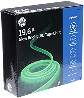 GE StayBright 552-Count 19.6-ft Constant Neon Green Integrated Led Plug-in Christmas Rope Lights Tubing 82133LO