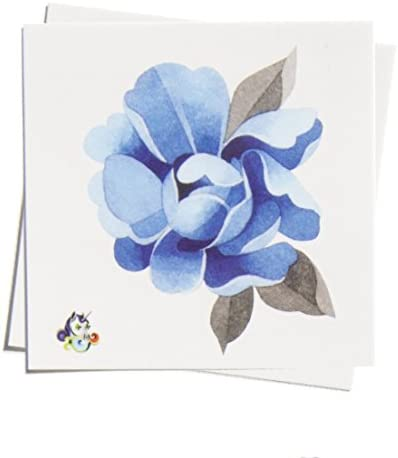 TattooYou Blue Peony Temporary Tattoo for Women Finest Quality Watercolor Style Temporary Peony product image
