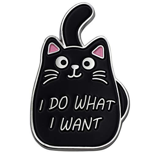 Black Cat Enamel Lapel Pin Funny Cute Cat Enamel Pins for Backpacks Hat Bags Chrismas Birthday Gift