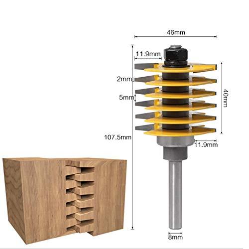 Brocas Para 8 Mm 1/2Vástago Enrutador Broca Dedo Articulación Espiga Cuchilla Fresadora Carpintería-B