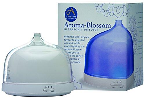 Absolute aroma's Absolute aroma's Aroma-Blossom etherische olie ultrasone diffuser voor thuis, kantoor, slaapkamer, wit, 15 x 15,5 x 18,5 cm, plastic, 15 x 15,5 x 18,5 cm