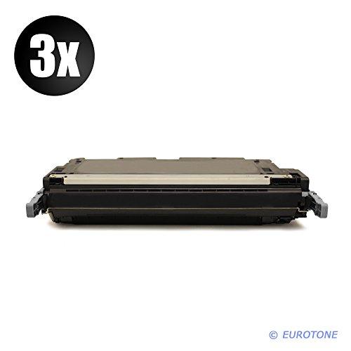 3X AFD-Toner für Color Laserjet 4700 DN, DTN, N, Plus Patronen ersetzen HP Schwarze Q5950A Patronen Original EUROTONE (ISO-Norm 19798)